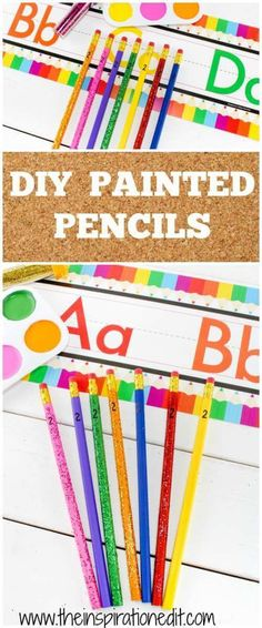 Today on the blog we have an exciting school themed tutorial for painting and decorating your own pencils. DIY painted pencils is a fun activity and budget friendly project to