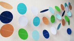 White Saumon Green Blue glitter Circles paper garland Pink Diy Supplies, Blue Glitter, Birthday Decorations, Circles, Nursery Decor, Garland, Peeps, Blue Green, Handmade Items