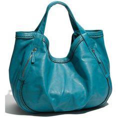 "Big Buddah ""Jamie"" Faux Leather Hobo Blue One Size $41.90"