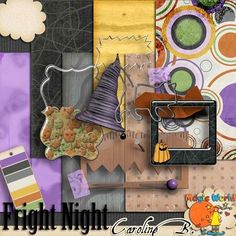 CarolineB_FrightNight_FREEBIE --- #freebie blog #digiscrap #digitalscrapbooking