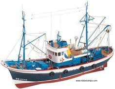 "Elegant, highly detailed wooden model ship kit by Artesania Latina: ""Marina II"" Wooden Boat Kits, Wooden Model Boats, Wooden Boat Building, Wooden Boat Plans, Boat Building Plans, Wooden Boats, Make A Boat, Build Your Own Boat, Model Ship Kits"