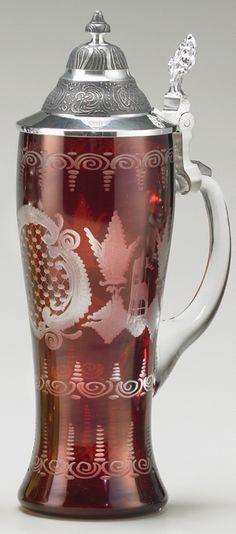 Crystal Glass Beer Stein - German Beer Glasses , Steins and Mugs -