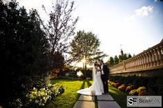 Beautiful skies and perfect weather for this couple's special day
