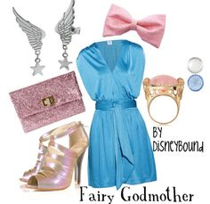 Fairy godmother outfit - by disneybound Disney Themed Outfits, Character Inspired Outfits, Disney Dresses, Disney Clothes, Cinderella Fairy Godmother, Cinderella Disney, Disney Fairies, Disney Princess, Disneybound Outfits
