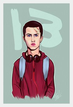 Image result for 13 reasons why fan art