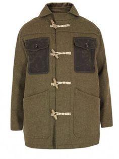 9cfe4be31c Nigel Cabourn x Scott's Expedition Frank Debenham Army Green Seaman Coat.
