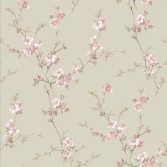 Tree Wallpaper Bedroom, Plant Wallpaper, Wallpaper Roll, Flower Wallpaper, Wallpaper Backgrounds, Floral Print Wallpaper, Floral Prints, Cherry Blossom Wallpaper, Brewster Wallpaper