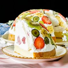 Fruit Dome Cake This cake hack guarantees a perfect cake every time.This cake hack guarantees a perfect cake every time.Fruit Dome Cake This cake hack guarantees a perfe. Easy Desserts, Delicious Desserts, Dessert Recipes, Yummy Food, Fruit Cake Recipes, Recipes Dinner, Creative Food, Let Them Eat Cake, Cupcake Cakes