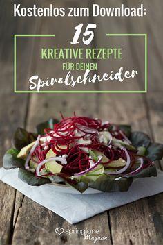 Vitaminreich, dafür kalorienarm und äußerst vielseitig – Gemüsenudeln bringen alles mit, was man für eine gesunde Low-Carb-Ernährung braucht. In unserem Rezeptheft erfährst du, wie du das Leckerste aus deinem Spiralschneider rausholst - auf dich warten 15 raffinierte Rezepte!