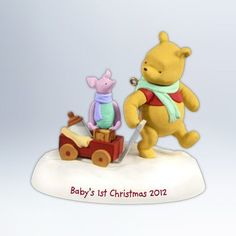 Winnie The Pooh Babys First Christmas  Hallmark 2012 Keepsake Ornament  QXD1601 *** Learn more by visiting the image link.