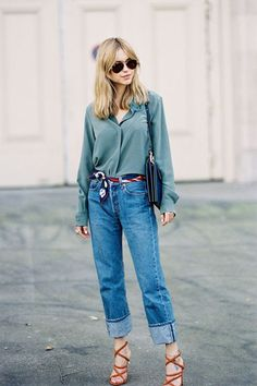 nice Vanessa Jackman: Paris Fashion Week SS by… Easy Style, Style Année 90, Style Désinvolte Chic, Looks Style, Denim Fashion, 90s Fashion, Paris Fashion, Fashion Outfits, Fashion Trends