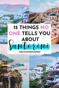 15 Things NO ONE tells you about Santorini! 15 things that you MUST know before heading to the island of Santorini in Greece. Best Greek Islands, Greece Islands, Greek Islands Vacation, Greece Vacation, Greece Travel, Japan Travel, Greece Photography, Travel Photography, Santorini Travel