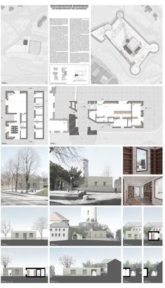 Visitor Information Center and the Johannisberg Castle rafter // by MAX DUDLER Architecture Graphics, Interior Architecture, Presentation Boards, Information Center, Maps, Competition, Castle, Floor Plans, Layout