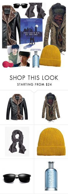 """New from Adam Silvera"" by elliewriter ❤ liked on Polyvore featuring Brooks Brothers, MANGO MAN, HUGO, Eos, men's fashion and menswear"