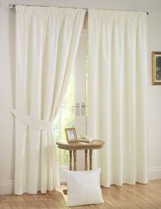 Incredible savings on pencil pleat curtains. We stock a fantastic range of curtains in all colours and styles. Blackout Curtains Bedroom, Brown Curtains, Voile Curtains, Curtain Fabric, Fabric Bed, Home Decor, Home Focus, Cream Curtains, Pleated Curtains