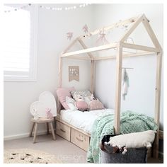 mommo design: - HOUSE BEDS love this for a child's room. House Beds For Kids, Kid Beds, Pastel Girls Room, Cosy Room, Childrens Beds, Kids Room Design, Little Girl Rooms, Kid Spaces, Girls Bedroom