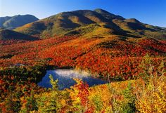 Photo: Adirondack Mountains, New York, USA  These peaks are an incredible sight, regardless of the season, but the autumn colors that can be seen from the hiking trails (or even your car window) attract tons of admirers every autumn. With 46 peaks over 4,000 feet tall, there are nearly endless ridges, valleys, and gorges to enjoy.