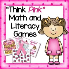 "FREE Math and Literacy Activities ""Think Pink!"" Printables from sponsor @educents -- limited time!!"