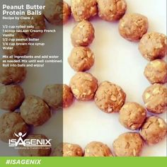 Welcome to Isagenix! Isagenix is your opportunity for health, wealth and happiness. Protein Ball, Protein Snacks, Healthy Snacks, Healthy Recipes, Protein Bites, Quick Snacks, Healthy Eating, Protein Deserts, Whey Recipes