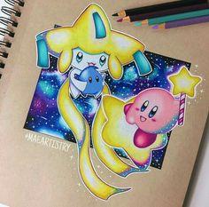 Jirachi, Luma, and Kirby