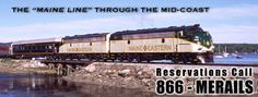 Maine Eastern Railroad - Rockland to Brunswick. A lovely journey. Don't Dream It's Over, Rockland Maine, A Lovely Journey, Philadelphia Hotels, Whale Watching, Round Trip, Vacation Places, Lighthouse, Family Travel
