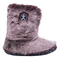 Cole Lux Faux Animal Fur Slipper Boots - Red Fox