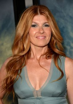 Connie Britton. Perfect hair and love that color dress!