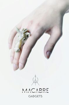 Macabre Gadgets unicorn ring with crystal horn