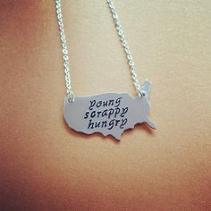 Just Like My Country Young Scrappy & Hungry USA Necklace Inspired By Hamilton Broadway Musical