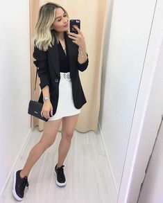 Best Winter Fashion Outfits Part 2 Blazer Outfits Casual, Cute Casual Outfits, Stylish Outfits, Look Blazer, Elegantes Outfit, Winter Fashion Outfits, Mode Style, Casual Looks, Ideias Fashion