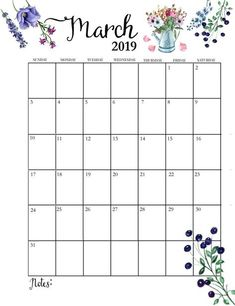 Editable Calendar March 2019 : The idea of creating a calendar design can be obtained from the calendar images that we have prepared below March Calendar Printable, Calendar March, Cute Calendar, Monthly Calendar Template, Calendar Calendar, Printable Calendars, Calendar Ideas, Preschool Calendar, Creative Calendar