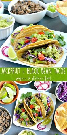 Mix up your taco game with Jackfruit & Black Bean Taco Filling!It's a delicious vegan and gluten-free recipe. Add it to corn tortillas with your favorite toppings for an easy meal any night of the week. #tacotuesday #tacos #jackfruit #vegan #glutenfree via @VeggiesSave