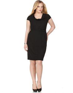 Knit Solid 8 Way Dress Plus Size Work Dresses Avenue