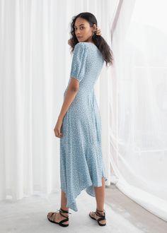 205245aa27f4 Cotton Blend Handkerchief Midi Dress - Dandelion - Midi dresses - & Other  Stories
