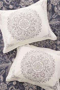 Shop Louise Femme Medallion Sham Set at Urban Outfitters today. Bohemian Style Bedding, Boho Bedding, Boho Room, Bohemian Pillows, Cotton Bedding, Linen Bedding, Cotton Pillow, Boho Style, Boho Chic