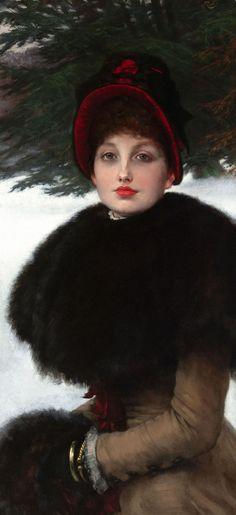 James Tissot, Caminhada de um inverno de 1878