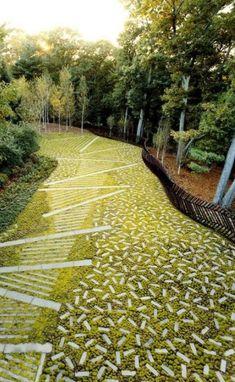 40 New ideas landscape architecture paving pattern lawn Modern Landscape Design, Landscape Architecture Design, Modern Landscaping, Urban Landscape, Backyard Landscaping, Architecture Photo, Landscaping Design, Landscape Bricks, Modern Design