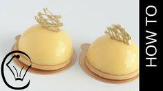Lemon Curd Tart Dome Entremet by Cupcake Savvy's Kitchen Mirror Glaze Mousse-Törtchen Fancy Desserts, Köstliche Desserts, Fancy Cakes, Mini Cakes, Delicious Desserts, Mousse Dessert, Baileys Dessert, Entremet Recipe, Lemon Curd Tart