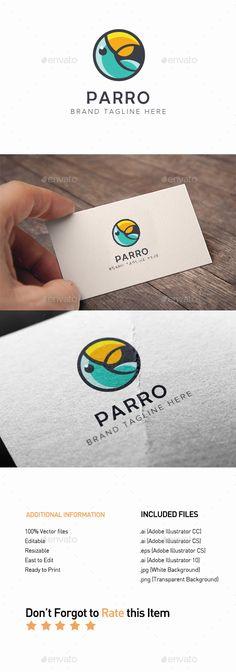 Parro #Logo - #Animals Logo Templates Download here: https://graphicriver.net/item/parro-logo/20364779?ref=alena994