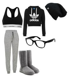 """""""Movie date"""" by bladebruce21 ❤ liked on Polyvore featuring Topshop, Icebreaker, Calvin Klein, UGG Australia and Ray-Ban"""