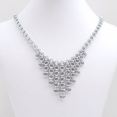 Japanese style chainmaille necklace by TattooedAndChained, $100.00