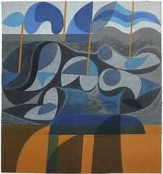 I'm such a big fan of Peter Green's work. woodcut & stencil print by peter green