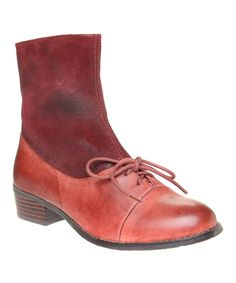 Look at this Antelope Wine Lace-Up 342 Leather Boot on #zulily today!