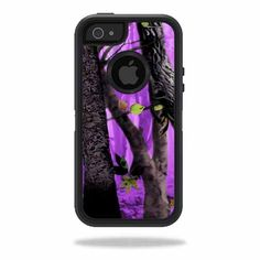 Skin Decal Sticker for OtterBox Defender iPhone 5 Case Skins Purple Tree Camo