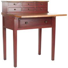 Safavieh Abigail Fold Down Desk in Cherry-AMH6520A - The Home Depot