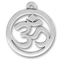 Sterling Silver Om Sanskrit Yoga Charm