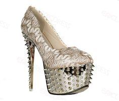 Glamorous Light Golden Color High Heels Women Pump
