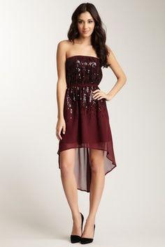 Sequin Hi-Lo Dress