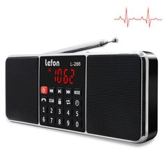Mayitr 1 Stück Tragbare Stereo Fm Radio Hd Lcd-bildschirm Fm Radio Mp3 Minilautsprecher Tf Usb Led-taschenlampe Radio Unterhaltungselektronik