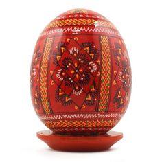 Red Wooden Goose Easter Egg  #bestpysanky
